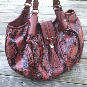 Gucci Handbag Stirrup Edition Large Snake Red Mult